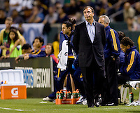 Head Coach of the LA Galaxy Bruce Arena wonders what Iit will take to turn around his team. The New York Red Bulls beat the LA Galaxy 2-0 at Home Depot Center stadium in Carson, California on Friday September 24, 2010.