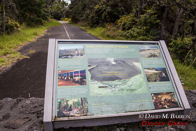 Kilauea Volcano National Park Interpretive Panel