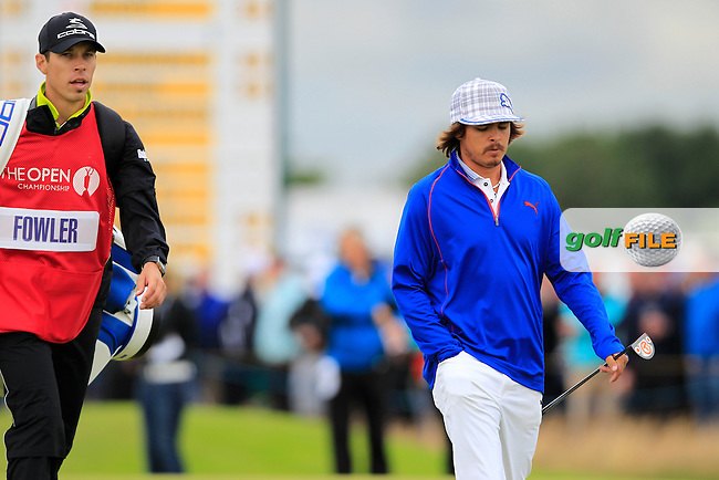 Rickie Fowler (USA) walks to the 13th green during Thursday's Round 1 of the 141st Open Championship at Royal Lytham & St.Annes, England 19th July 2012 (Photo Eoin Clarke/www.golffile.ie)