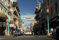 AJ3775, San Francisco, Chinatown, Bay Area, California, Street scene in Chinatown in San Francisco in the state of California.