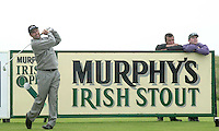 Jose maria Olazabal driving  at the 1st tee in the Murphy's Irish Open Pro-Am at Ballybunion .Picture by Don MacMonagle