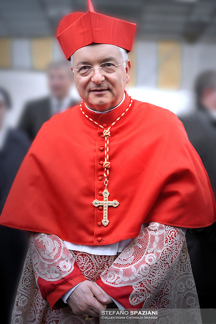 cardinal ring to Italian Mauro Piacenza (C) during the Eucharistic celebration with the new cardinals on November 21, 2010 at St Peter's basilica at The Vatican. 24 Roman Catholic prelates joined the day before the Vatican's College of Cardinals, the elite body that advises the pontiff and elects his successor upon his death.