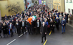 08-12-2014: The remains of  former Kerry South TD Jackie Healy-Rae  are carried through Kilgarvan village following his funeral at Patrick's Church, Kilgarvan, Co. Kerry on Monday.  Picture: Eamonn Keogh ( MacMonagle, Killarney)