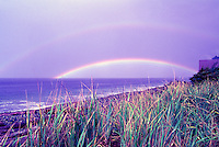 Haida Gwaii (Queen Charlotte Islands), Northern BC, British Columbia, Canada - Double Rainbow at Agate Beach along McIntyre Bay, Naikoon Provincial Park, Graham Island