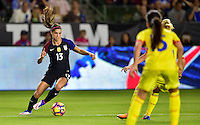 Carson, CA - November 13, 2016: The U.S. Women's National team take a 3-0 lead over Romania with Alex Morgan contributing a goal in an international friendly game at StubHub Center.