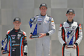 2017 F4 US Championship<br /> Rounds 4-5-6<br /> Indianapolis Motor Speedway, Speedway, IN, USA<br /> Sunday 11 June 2017<br /> Race two winner Kyle Kirkwood with 2nd place to Timo Reger and 3rd place to Braden Eves<br /> World Copyright: Dan R. Boyd<br /> LAT Images