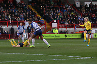 Beth Mead of Arsenal scores the fourth goal for her team during Brighton & Hove Albion Women vs Arsenal Women, Barclays FA Women's Super League Football at Broadfield Stadium on 12th January 2020