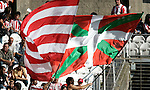 Athletic de Bilbao's supporters with the basque country flag during La Liga match, September 28, 2008. (ALTERPHOTOS/Alvaro Hernandez)