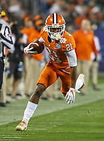 Charlotte, NC - December 2, 2017: Clemson Tigers wide receiver Ray-Ray McCloud (21) in action during the ACC championship game between Miami and Clemson at Bank of America Stadium in Charlotte, NC. Clemson defeated Miami 38-3 for their third consecutive championship title. (Photo by Elliott Brown/Media Images International)