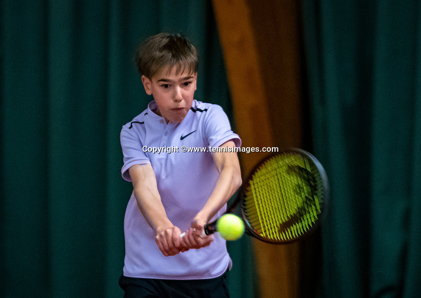 Wateringen, The Netherlands, December 4,  2019, De Rhijenhof , NOJK 14 and18 years, T   Sverre Bakker (NED)<br /> Photo: www.tennisimages.com/Henk Koster