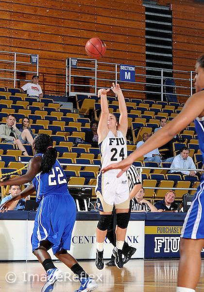 Florida International University guard Carmen Miloglav (24) plays against Lynn University.  FIU won the game 68-30 on November 30, 2011 at Miami, Florida. .
