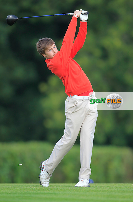 Jake Rowe (Tandragee) on the 1st tee during the Irish Boys Under 15 Amateur Open Championship Round 2 at the West Waterford Golf Club on Wednesday 21st August 2013 <br /> Picture:  Thos Caffrey/ www.golffile.ie