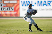 Right fielder Michael Burgess (30) of the Hagerstown Suns on defense versus the Kannapolis Intimidators at Fieldcrest Cannon Stadium in Kannapolis, NC, Sunday May 25, 2008.