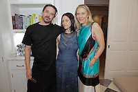 Greg Arnold, Cindy DiPrima and Kerrilynn Pamer attend the CAP Beauty + Jenni Kayne Dinner on Nov. 5, 2015 (Photo by Inae Bloom/Guest of a Guest)