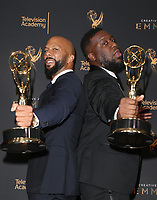 LOS ANGELES, CA - SEPTEMBER 09: Common, Robert Glasper, at the 2017 Creative Arts Emmy Awards- Press Room at Microsoft Theater on September 9, 2017 in Los Angeles, California. <br /> CAP/MPIFS<br /> &copy;MPIFS/Capital Pictures
