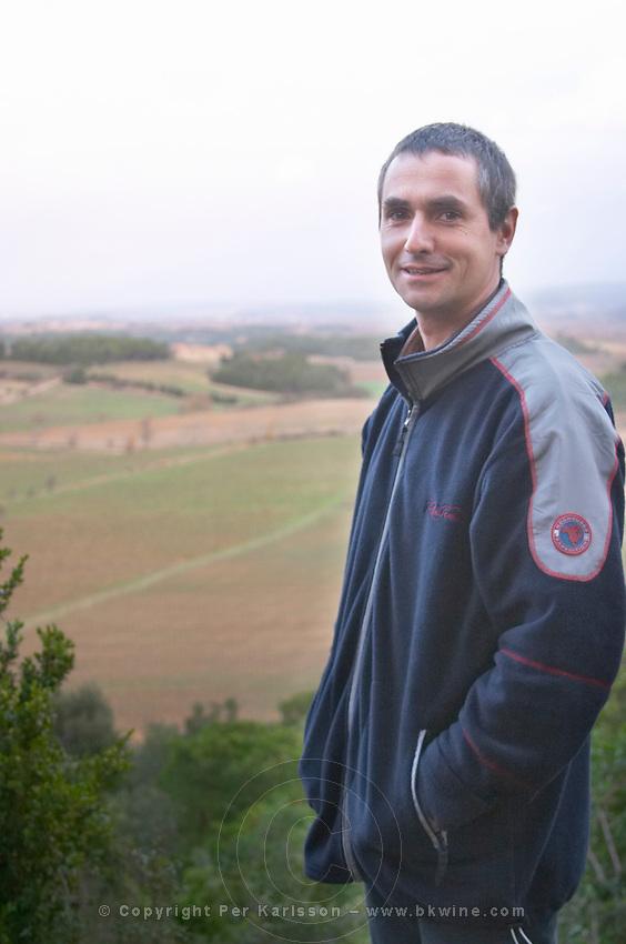 Philippe Mathias Chateau Pech-Latt. Near Ribaute. Les Corbieres. Languedoc. The vineyard. France. Europe.