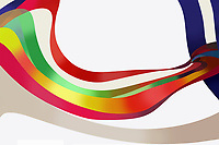 Abstract backgrounds pattern of multicolored flowing stripes