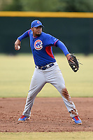 Chicago Cubs first baseman Jeimer Candelario (18) during an Instructional League intersquad game on October 9, 2014 at Cubs Park Complex in Mesa, Arizona.  (Mike Janes/Four Seam Images)