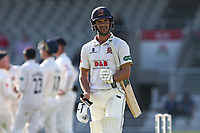 Ryan ten Doeschate leaves the field having been dismissed during Lancashire CCC vs Essex CCC, Specsavers County Championship Division 1 Cricket at Emirates Old Trafford on 11th June 2018