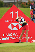 Charley Hull (ENG) in action on the 11th during Round 4 of the HSBC Womens Champions 2018 at Sentosa Golf Club on the Sunday 4th March 2018.<br /> Picture:  Thos Caffrey / www.golffile.ie<br /> <br /> All photo usage must carry mandatory copyright credit (&copy; Golffile | Thos Caffrey)