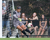 Newton, Massachusetts - August 27, 2017: NCAA Division I. Boston College (white) defeated Colgate University (maroon), 5-1, at Newton Campus Soccer Field.