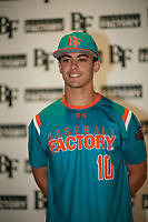 Michael  Machin(10) of Monsignor Edward Pace High School in Miami Lakes, Florida during the Baseball Factory All-America Pre-Season Tournament, powered by Under Armour, on January 12, 2018 at Sloan Park Complex in Mesa, Arizona.  (Zachary Lucy/Four Seam Images)