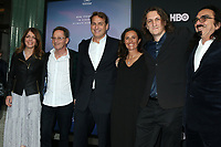 """LOS ANGELES - JUN 5:  Nancy Abraham, Roee Sharon, Mathew Schmid, Leila Conners, Harun Mehmedinovic, George DiCaprio at the """"Ice on Fire"""" HBO Premiere at the LACMA Bing Theater on June 5, 2019 in Los Angeles, CA"""