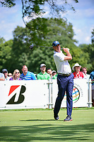 Matt Kuchar (USA) watches his tee shot on 11 during Saturday's round 3 of the World Golf Championships - Bridgestone Invitational, at the Firestone Country Club, Akron, Ohio. 8/5/2017.<br /> Picture: Golffile | Ken Murray<br /> <br /> <br /> All photo usage must carry mandatory copyright credit (&copy; Golffile | Ken Murray)