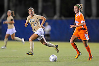 21 August 2011:  FIU's Deana Rossi (17) looks for an opportunity to steal the ball from Florida's Annie Speese (13) in the second half as the University of Florida Gators defeated the FIU Golden Panthers, 2-0, at University Park Stadium in Miami, Florida.