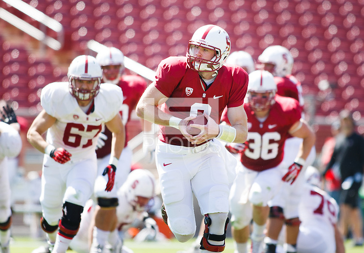 Stanford,CA-- April 12, 2014: Kevin Hogan during the Cardinal and White Spring Game Saturday afternoon at Stanford Stadium