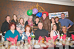 Double Celebration :Eilenn  Hartnett & Dermot O'Mahony were surprised on Thursday night last with a surprise birthday party fir both of them at the Horshoe Restaurant, Listowel when each thought they were going to the others party.Front : Betty Healy, Eileen Hartnett, Dermot O'Mahony, Rhona Enright & Deidre O'Brien. Back : Christina McKenna, Caroline Scanlon, Norma Hartigan, Mary O'Sullivan, Celia Thornton, Thomas Enright, Caroline Saccard, Mags Canty & Ciaran Dennehy.