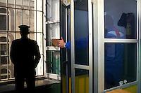 Casa di reclusione di Porto Azzurro, isola d' Elba..House of imprisonment of Porto Azzurro, Elba Island.  .Gli agenti di polizia penitenziaria controllano la sicurezza e  le varie attività dei detenuti..Penitentiary Police  check the security and activities of the prisoners....