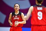 Aya Watababe (JPN), <br /> AUGUST 15, 2018 - Basketball : Women's Qualification round match between Hong Kong 44-121 Japan at Gelora Bung Karno Basket Hall A during the 2018 Jakarta Palembang Asian Games in Jakarta, Indonesia.<br /> (Photo by MATSUO.K/AFLO SPORT)