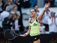 Bratislava, Slovenia, April 22, 2017,  FedCup: Slovakia-Netherlands, First rubber : Jana Cepelova<br /> Photo: Tennisimages/Henk Koster