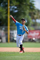 Dominic Pitelli during the WWBA World Championship at the Roger Dean Complex on October 19, 2018 in Jupiter, Florida.  Dominic Pitelli is a shortstop from Miami, Florida who attends Doral Academy Charter High School.  (Mike Janes/Four Seam Images)
