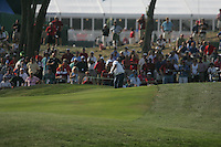Graeme McDowell taking his second shot onto the 13th green during the final round of Single Matches at The 37th Ryder cup from Valhalla Golf Club in Louisville, Kentucky....Photo: Fran Caffrey/www.golffile.ie.