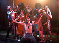 'Hair' theatre photocall on October 10th in London, England.  New 50th anniversary 1960s festival style production of the iconic ground-breaking rock musical HAIR opens at London&rsquo;s fully immersive Off-West-End theatre, The Vaults, London<br /> CAP/JOR<br /> &copy;JOR/Capital Pictures