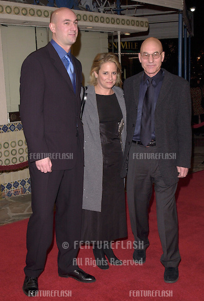 "12DEC99:  Actor PATRICK STEWART (right) & wife & son DANIEL at the Los Angeles premiere of ""The Talented Mr. Ripley."".© Paul Smith / Featureflash"