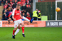 Fleetwood Town's Paddy Madden scores his side's first goal  <br /> <br /> Photographer Richard Martin-Roberts/CameraSport<br /> <br /> The EFL Sky Bet League One - Fleetwood Town v Doncaster Rovers - Wednesday 26th December 2018 - Highbury Stadium - Fleetwood<br /> <br /> World Copyright © 2018 CameraSport. All rights reserved. 43 Linden Ave. Countesthorpe. Leicester. England. LE8 5PG - Tel: +44 (0) 116 277 4147 - admin@camerasport.com - www.camerasport.com