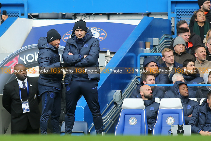 Chelsea Assistant Manager, Jody Morris and Chelsea Manager, Frank Lampard during Chelsea vs Everton, Premier League Football at Stamford Bridge on 8th March 2020
