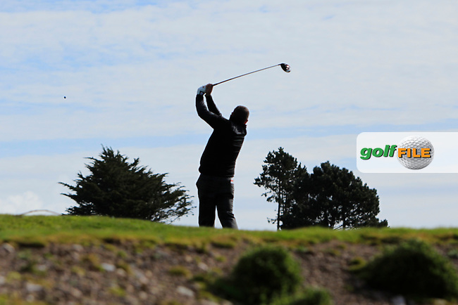 Sean Barry (Fota Island) on the 11th tee during Round 1 of the Munster Stroke Play Championship at Cork Golf Club on Saturday 30th April 2016.<br /> Picture:  Thos Caffrey / www.golffile.ie