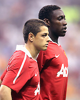 Javier Hernandez #14 and Danny Welbeck #19 of Manchester United during the 2010 MLS All-Star match against the MLS All-Stars at Reliant Stadium, on July 28 2010, in Houston, Texas .MANU won 5-2.