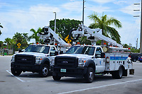 FPL crews preparing for 2019 Hurricane Dorian in Boynton Beach, Fla. on September 1, 2019.