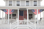 Patriotic porch in Scituate, MA, USA