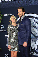 "LOS ANGELES - JUN 9:  Anna Faris, Chris Pratt at the ""Jurassic World"" World Premiere at the Dolby Theater, Hollywood & Highland on June 9, 2015 in Los Angeles, CA"
