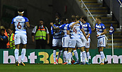31st October 2017, Madejski Stadium, Reading, England; EFL Championship football, Reading versus Nottingham Forest; John Swift of Reading celebrates scoring the first Reading goal with his team
