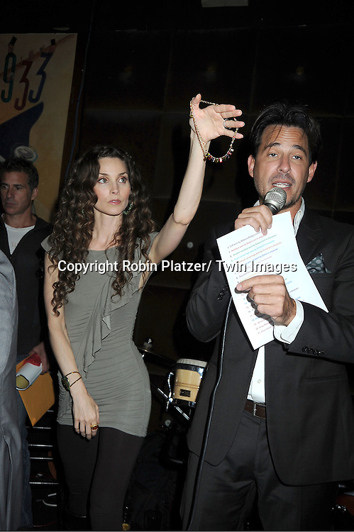 Alicia Minshew and  Ricky Paull Goldin attending the Good Night Pine Valley Event co-hosted by All My Children actors Ricky Paull Goldin and Alicia Minshew on September 17, 2011 at Prohibition in New York City