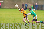 Finuge's Matt Lynch and Listowel's Derek Galvin...