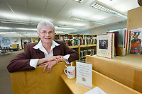 Mary Leith-Dowling, Mayor of Delta Junction, Alaska, in the new library.