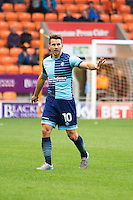 Matt Bloomfield of Wycombe Wanderers during the Sky Bet League 2 match between Blackpool and Wycombe Wanderers at Bloomfield Road, Blackpool, England on 20 August 2016. Photo by James Williamson / PRiME Media Images.